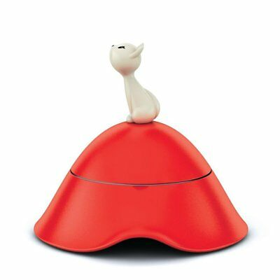 Alessi Mio Cat Bowl - Red