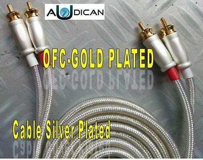 CABLE  AUDIO 2 RCA-2 RCA 1m. OFC SILVER FLOW 100