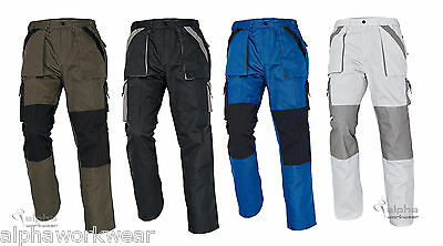 Mens Combat Cargo Work Pants Painters Trousers Black White or Khaki MAX.