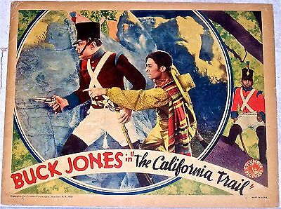 California Trail '33 Lc Buck Jones Loved ~ Hated ~ Feared & A Price On His Head!