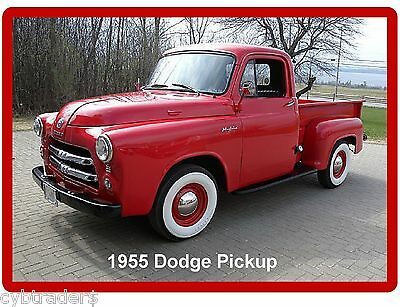 1955 Dodge Pickup  Refrigerator / Tool Box Magnet  Man Cave