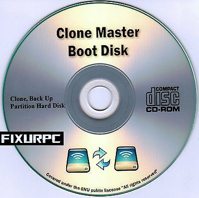 CLONE MASTER BOOT DISK, GHOST YOUR HARD DRIVE, COPY. plus Bonus Software