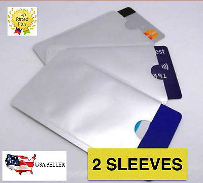 2 RFID Blocking Sleeve Secure Shield Protector for ID/Payment/Debit/Credit Card