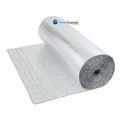 Double Foil Single Bubble Wrap Aluminum Insulation Roll 1.2m x 30m Loft Wall