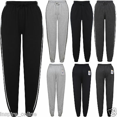 New Kids Boys Girls Warm Fleece Plain School Tracksuit Bottom Jogging Sweatpants