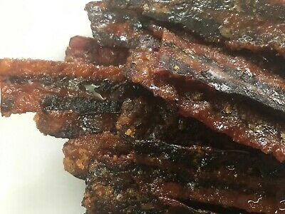 Bacon Jerky, Smoked 27 flavors Made Fresh Free shipping 8 ounce Christmas Gift