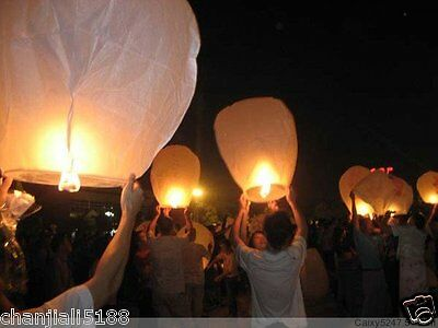 free 20PCS FIRE SKY CHINESE LANTERNS BIRTHDAY WEDDING PARTY 9colors hot PW#017