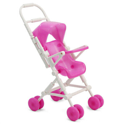 DIY Assemble Baby Carriage Stroller Doll Furniture Happy Family For Barbie Kelly