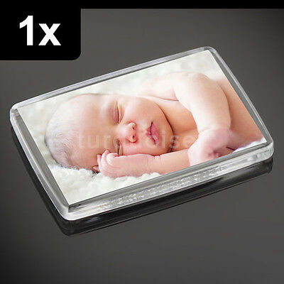 1x Premium Quality Clear Acrylic Blank Fridge Magnets 66 x 44 mm | Large Photo