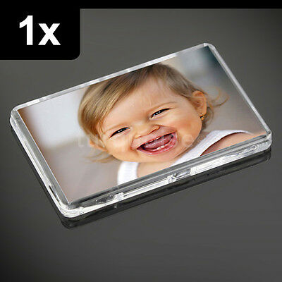 1x Premium Quality Clear Acrylic Blank Fridge Magnets 70 x 45 mm | Large Photo