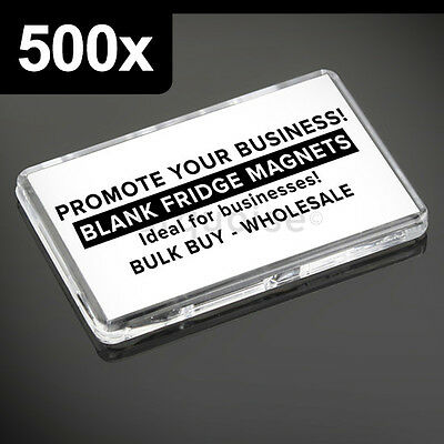 500x Premium Quality Clear Acrylic Blank Fridge Magnets 70 x 45 mm | Large Photo