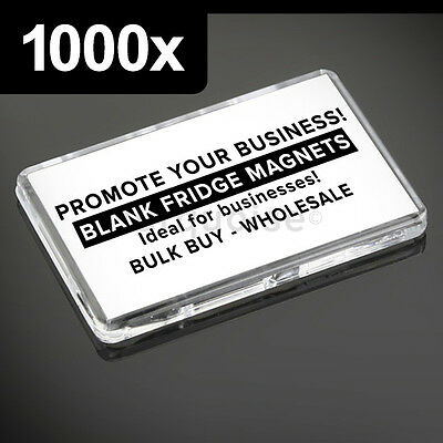 1000x Premium Quality Clear Acrylic Blank Fridge Magnets 70 x 45 mm Large Photo
