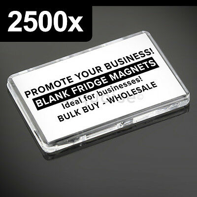 2500x Premium Quality Clear Acrylic Blank Fridge Magnets 70 x 45 mm Large Photo