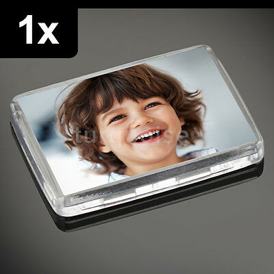 1x Premium Quality Clear Acrylic Blank Photo Fridge Magnets 50 x 35 mm