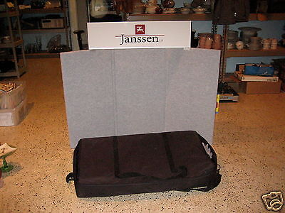 Trade Show Conference Briefcase Panel Table Top Display With Light Kit & Header