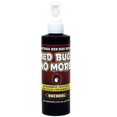 BED BUGS NO MORE NATURAL BED BUG KILLER NO HARMFUL PESTICIDES 8oz PUMP SPRAY