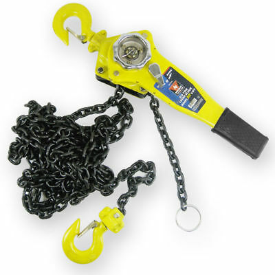 "Chain Hoists 3/4 Ton 5' Foot Lift, Chain Dia 1/4"" Inch w/ Mechanical Load Brake"