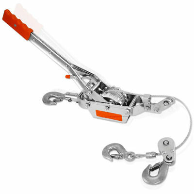 Come Along | 4 Ton Lever Hoist 2 Gear Power Puller Winch Hand Ratcheting 3 Hooks