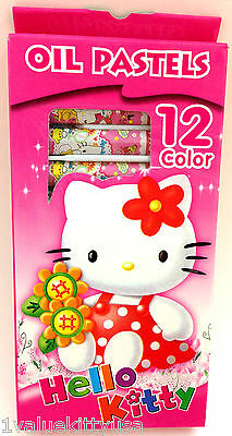 Hello Kitty 12 Color Oil Pastel  **US SELLER**