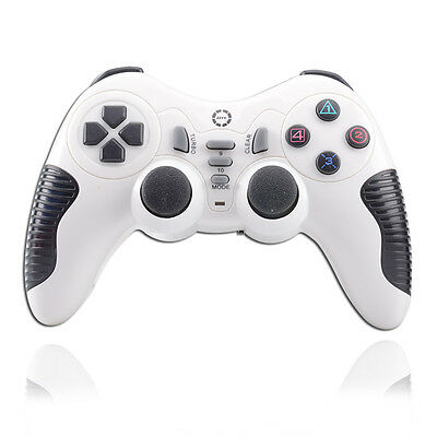 Wireless 2.4GHz Game Pad Controller Joystick Gamepad for PS2 PS3 PS III PC White