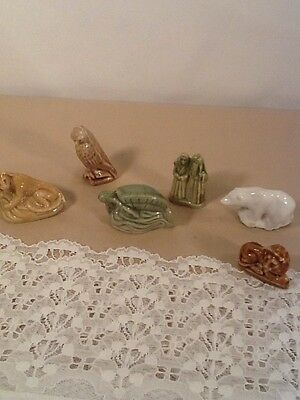 Glass Animal Figurines Wade England Vintage Collectable  Set Of 6