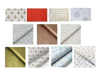 CHRISTMAS TISSUE PAPER - Various Patterns and Themes