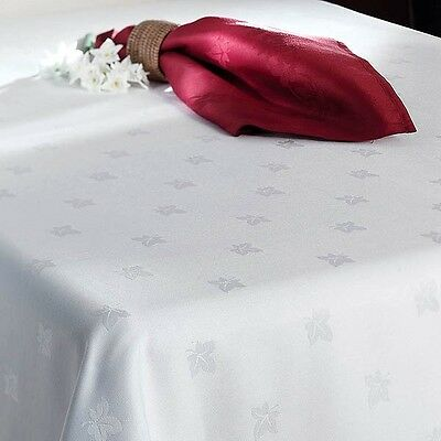 White DAMASK 100% Egyptian Cotton - Table Linen Dining