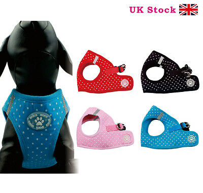 SOFT PADDED DOG or PUPPY HARNESS - IDEAL FOR THE SMALLER DOG XS/S/M/L/XL