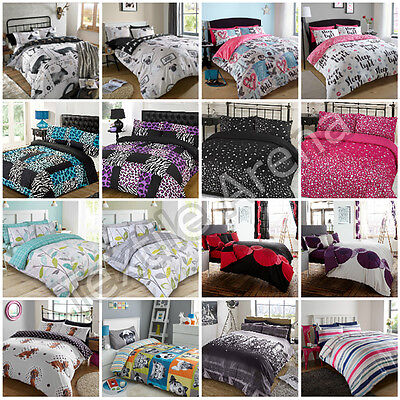 Duvet Cover with Pillowcase Quilt Cover Bedding Single Double King & S-King Size