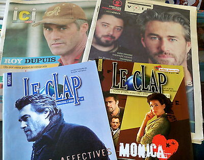 LOT of 4 ROY DUPUIS french magazine & newspaper published QUEBEC clipping Herald
