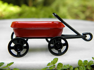 Miniature Dollhouse FAIRY GARDEN Accessories ~ Tiny Red Wagon ~ NEW