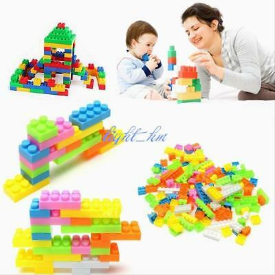 144pcs/240pcs Plastic Building Blocks Bricks Children Kids Educational Toy Gift