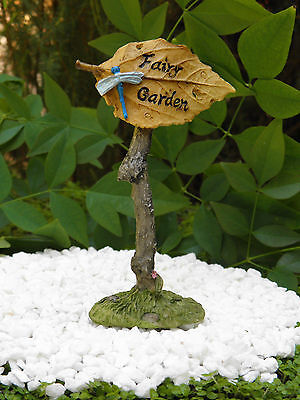 "Miniature Dollhouse FAIRY GARDEN Accessories ~ ""Fairy Garden"" Sign ~ NEW"