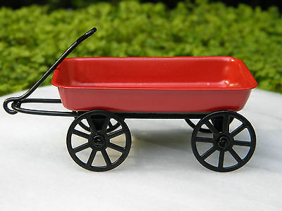 Miniature Dollhouse Fairy Garden Accessories Little Red Wagon New