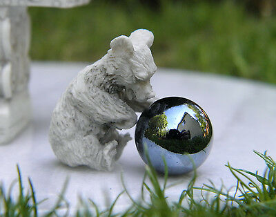 Miniature Dollhouse FAIRY GARDEN Accessories ~ TINY Bear with Gazing Ball ~ NEW