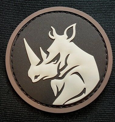 Rhino Head Pvc Tactical Military Morale Usa Isaf Army Milspec Swat Hook Patch