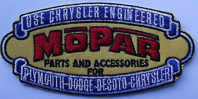 Mopar Parts and Accessories embroidered cloth patch.  F020803