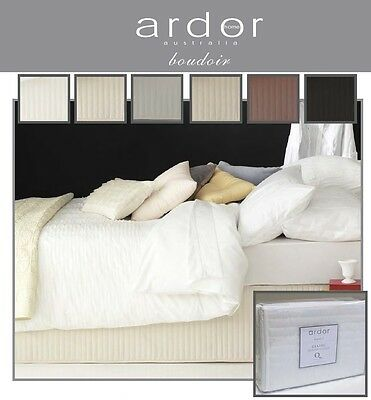 Ardor Boudoir Quilted Valance ~ 6 Colours ~ Single ~ KS ~ Double ~ Queen ~ King