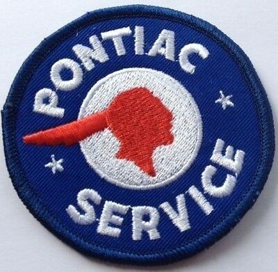 Pontiac Service embroidered cloth patch.  F040103