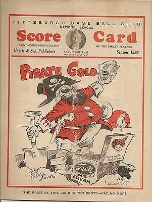 1928 Pittsburgh Pirates-Cubs Program Rare Forbes Field Treasure!!