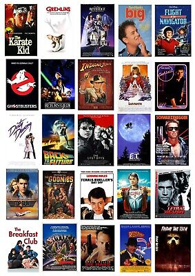 Best 80's Movie Collection Collage Wall Art Poster *images Can Be Changed*