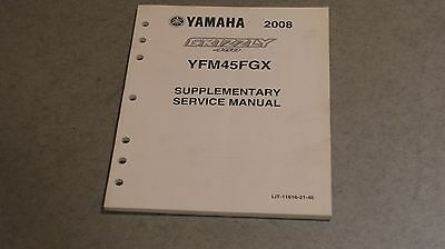 Yamaha Supplementary Service Manual 2008 Grizzly Yfm450 Lit-11616-21-46