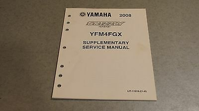Yamaha Supplementary Service Manual 2008 Grizzly Yfm400 Lit-11616-21-45