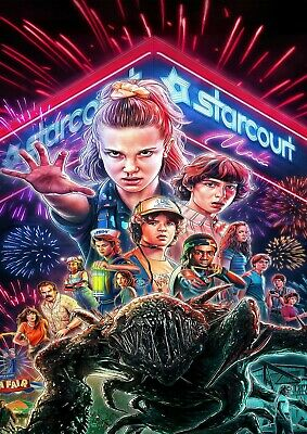 Stranger Things Tv Series Glossy Wall Art Poster Print (A1 - A5 Sizes Available)