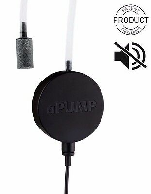 Aquarium aPUMP Worlds Smallest Most Silent Air Pump up to 100L USA or EURO PLUG