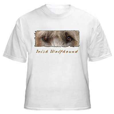 "Irish  Wolfhound  fawn # 1    "" The Eyes Have It ""   T shirt"