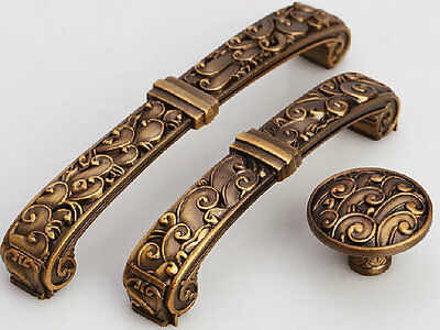 Antique Brass Dresser Knob Drawer Pull Handles Kitchen Cabinet Handle 96 128 mm