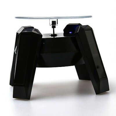 Black New Powered Jewelry Watch Rotating Display LED Light Stand Turn Table