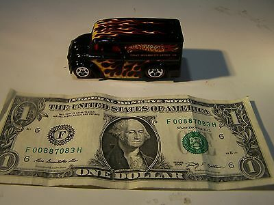 Hot Wheels 2008 Since 68 Dairy Delivery Truck - Black with Flames