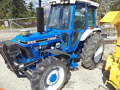 Ford 6610 tractor diesel 4x4 drive, cab, air, PTO, three point hitch!